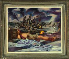 1013: John McCrady-Self Portrait, Grand Isle (American/Louisiana, 1911-1968) : Lot 1013