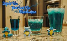 Oh yes. Pokémon Drinks. Squirtle. Warturtle. Blastoise. <3