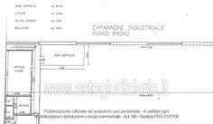 Planimetria n° 2 - Pianta piano primo Desktop, Floor Plans, Diagram, Italia