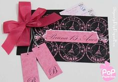 Convite 15 anos da Bruna - By Pop Paper Box