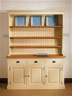Mottisfont Painted 6ft Farmhouse Dresser (White, Pine, Metal)   Bi-Furniture Store