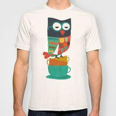 Morning Owl T-shirt by Budi Satria Kwan - $22.00