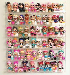 Lol Surprise Doll Display Shelf Rack 6 Pack L.L Organize Shelf Rack Wall Shelf - klara Doll Organization, Doll Storage, Baby Girl Toys, Toys For Girls, Kids Toys, Kids Wall Shelves, Doll Display, Shelf Display, Rack Shelf