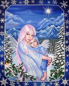 Snow Angels by Queenofchaoss on DeviantArt Poster Prints, Framed Prints, Canvas Prints, Art Prints, Sleeping Women, Aurora Sleeping Beauty, Touched By An Angel, I Believe In Angels, Snow Angels