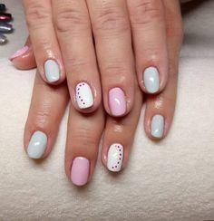 Kropki kropeczki  #nails #nailsbyme #instanails #paznokcie #hybrydowe #blue #and #pink #kropkowelove Gel Nails, Manicure, Nail Art, Pink, Blue, Gel Nail, Nail Bar, Nails, Polish