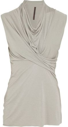 LILIES draped jersey top on shopstyle.com