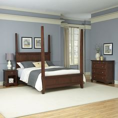 Chesapeake Four Poster 3 Piece Bedroom Set