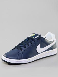 #Nike #Court #Majestic #Leather #Obisidian #White #Sonic #Yellow