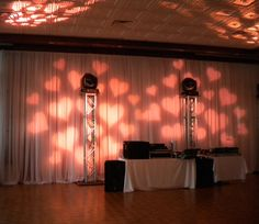 Fun heart shaped lighting ~ #wedding #party #event #lighting #EventuresInc