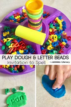 Dough Letters Spelling Activity This Play Dough Letters Spelling Activity not only works fine motor muscles but it challenges our students to practice spelling words in a whole new way!The Works The Works may refer to: Playdough Activities, Spelling Activities, Kindergarten Literacy, Alphabet Activities, Early Literacy, Literacy Activities, Educational Activities, Literacy Centers, Literacy Stations