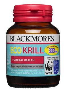 Blackmores Eco Krill has been Marine Stewardship Council (MSC) certified as sustainable. Blackmores Eco Krill is rich in to support brain, heart & eye health. It may also help reduce joint inflammation associated with arthritis. Krill Oil, Online Pharmacy, Fish Oil, Vanilla Flavoring, Arthritis, Omega, Brain, Vitamins, Nutrition