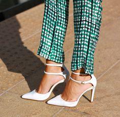 White shoes #fashion #heels