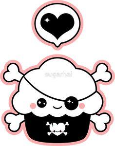 «Cute Pirate Cupcake» de sugarhai