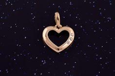 Zlatý přívěsek srdce se zirkony P051 0,80g Symbols, Art, Art Background, Kunst, Performing Arts, Glyphs, Art Education Resources, Icons, Artworks