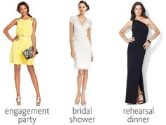 Engagement party, bridal shower and rehearsal dinner dresses for large chest