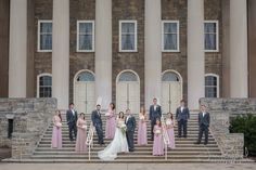 Jon Ragland Photography | Pittsburgh, Altoona, State College, Greensburg & Johnstown Wedding Photography | Wedding Party Photo | Penn State Old Main | Posing On Stairs | jonragland.com