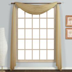 United Curtain Monte Carlo 4-Yard Window Scarf | from hayneedle.com
