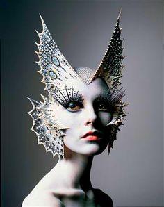 The work of a maestro ~ Kabuki Magic for NARS, 2005 ~ #avantgarde #makeup #extreme #fashion #theatrical #alienesque #MUA #kabuki #magic #kabukistarshine #NARS #cosmetics