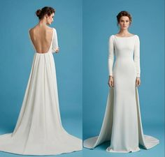 829fbcb2ee66c Cheap Backless Evening Dresses With Long Sleeve Hamda Al Fahim Jewel Neck  Pleated Prom Gowns Sweep Train Evening Dress Designer Dress Designer Gowns  From ...