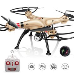 SYMA X8HC Large Aerial Remote Control Airplane 2MP Camera RC Model Drone Aircraft
