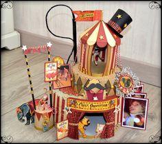 Quel cirque ! Un beau cirque ! Circus Crafts, Circus Art, Circus Theme, Circus Train, Graphic 45, Altered Tins, Altered Art, Halloween Circus, Creepy Circus