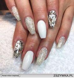 White gold nails