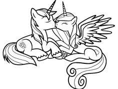 Horse Coloring Pages, Cartoon Coloring Pages, Colouring Pages, Coloring Pages For Kids, Coloring Sheets, Coloring Books, My Little Pony Craft, My Little Pony Coloring, My Little Pony Princess