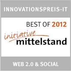 ausgezeichnet von der Intiative Mittelstand 2012: unser Portal gehört zu den besten im Bereich Web 2.0 und Social Media: www.Unternehmerinnen.org