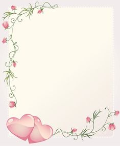 Romantic Wedding Invitation Template Card Background With hearts and Roses Flourishing Embellishment Borders For Paper, Borders And Frames, Heart Wallpaper, Flower Wallpaper, Wedding Invitation Templates, Wedding Invitations, Invitation Background, Birthday Frames, Hearts And Roses