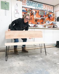 So if you haven't guessed yet, I am turning an old oak coffee table into a bench with a back. Epic BEFORE