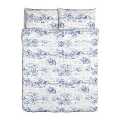 Blue  white toile. Yes, it's what I have in my bedroom now (Tommy Hilfiger from late 90s) but I love it so.