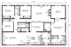 If you are going to build a barndominium, you need to design it first. And these finest barndominium floor plans are terrific concepts to begin with. Jump this is a popular article Custom Barndominium Floor Plans Pole Barn Homes Awesome. Barn House Plans, New House Plans, Dream House Plans, House Floor Plans, Simple Floor Plans, Simple Home Plans, Bedroom Floor Plans, The Plan, How To Plan