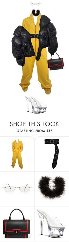 """""""Sin título #154"""" by b-e-b-a ❤ liked on Polyvore featuring Yves Saint Laurent, Dorothee Schumacher, Jean-Paul Gaultier, Frasier Sterling, Givenchy and Pleaser"""