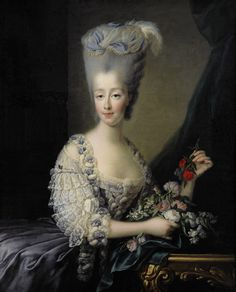 Marie Antoinette sisters in law. Maria Teresa di Savoia, countess of Artois and Maria Giuseppina di Savoia, countess of Provence. Marie Antoinette, Trianon Versailles, Jean Antoine Watteau, Madame Du Barry, Charles X, Victorian Paintings, French Royalty, Maria Teresa, Rococo Fashion