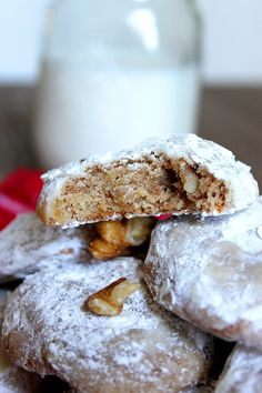 Walnut Cinnamon Winter Cookies - Fabtastic Eats