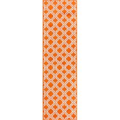 Viv + Rae Juliet Calipso Orange Area Rug Rug Size: 2' X 7'3'' Runner