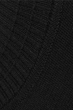 Rick Owens - Convertible Cutout Wool Tunic Sweater - Black