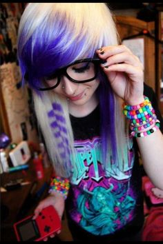 Purple and blond.