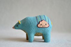 happy cloud spirit bear   daybreak by MountRoyalMint on Etsy, $72.00