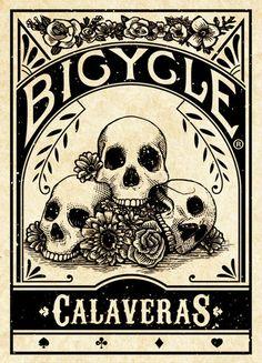 day of the dead. skulls. skeletons. spade. club. diamond. heart. playing cards. poker. blackjack. las vegas. art cards. | Calaveras Bicycle® Branded Card Deck (pre-order for $15.00)