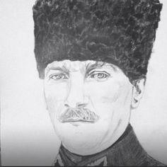 Benim naçiz vücudum nasıl olsa bir gün toprak olacaktır , ancak Türkiye Cumhuriyeti ilelebet payidar kalacaktır #Atatürk #art #draw #drawing #pencildraw #portrait #immortal #hero #leader #mywork #loveit #karakalem #portre