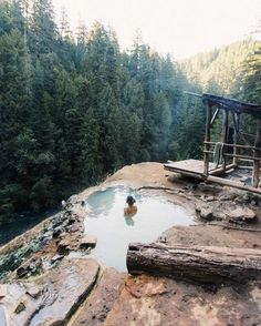 Umpqua Hot Springs is a geothermal pool located along the North Umpqua River in the U.S. state of Oregon at 2,640 feet elevation