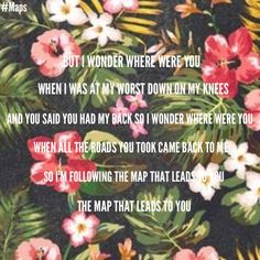 Map Maroon 5 map maroon 5 lyrics #Maps just saw the music video...not what