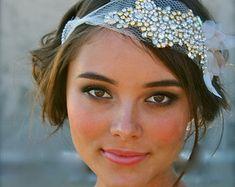 Classic Crystal Bridal Full Sized Bandeau Carey by DolorisPetunia