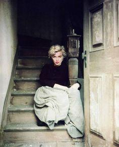 Marilyn Monroe; photo by Milton Greene, 1954.