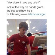 haha alex from target Funny Quotes, Funny Memes, Hilarious, Jokes, Starbucks Coffee, Alex From Target, Bae, Funny Pins, Funny Stuff