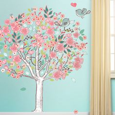 Spring Love Tree - Giant Tree Wall Sticker Decal