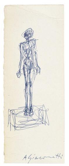 Alberto Giacometti, Nu debout sur un socle