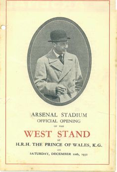 Arsenal West Stand Opening