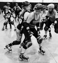 "When we learn to skate in roller derby, we are often told ""get low,"" which leads to the idea that we"